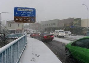 Spring snowfall Katoomba